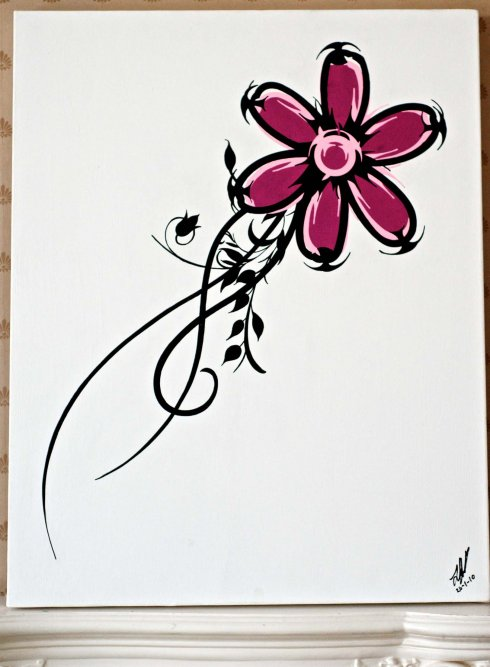 Razorflower glock canvas